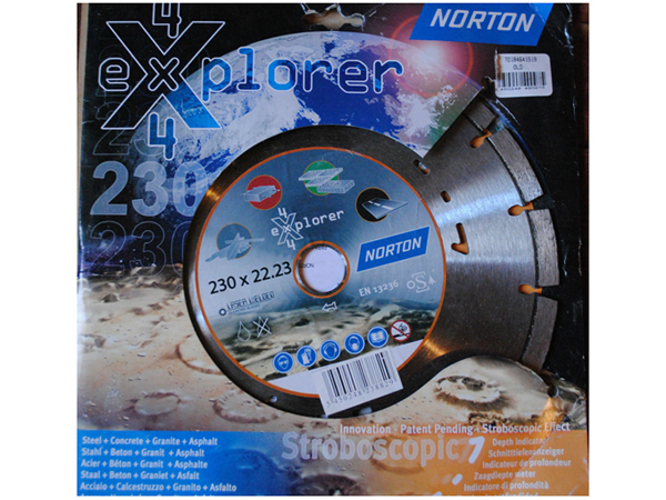 Disque Diamant NORTON 4X4 EXPLORER + 230 x 22.23 mm